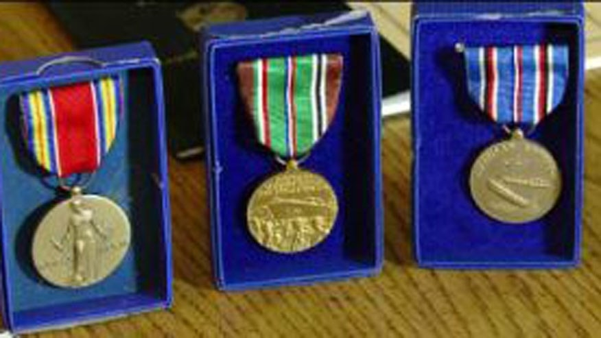 World War II medals found inside dresser purchased at an Indiana Goodwill this week. (Fox 59 Indianapolis)