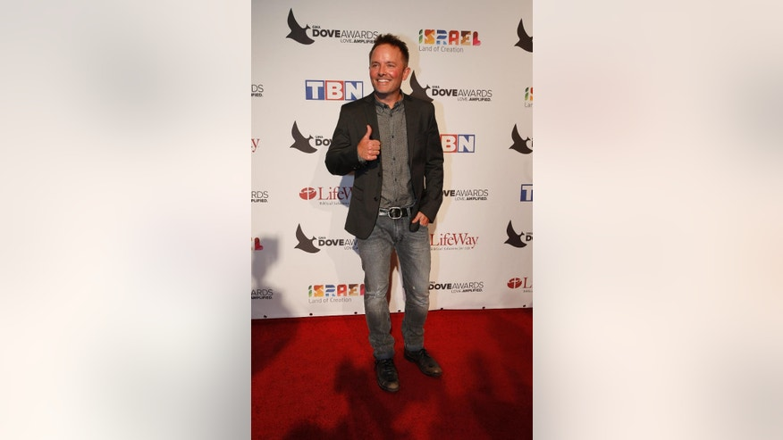 Chris Tomlin at the 47th Annual GMA Dove Awards at Lipscomb University's Allen Arena on Tuesday, Oct. 11, 2016,  Nashville, Tenn. (Photo by Donn Jones/Invision/AP)