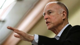 May 27, 2015: In this file photo, California Gov. Jerry Brown addresses a conference in Sacramento, Calif.