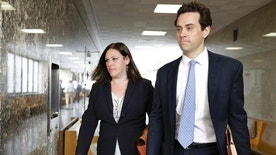 Assistant District Attorneys Joan Illuzzi-Orbon, and James Vinocur arrive for the retrial of Pedro Hernandez, in New York, Wednesday, Oct. 19, 2016. Opening statements are set for Wednesday in a retrial surrounding the 1979 disappearance of Etan Patz. (AP Photo/Richard Drew)