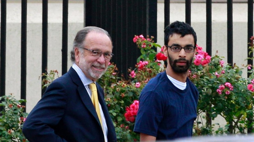 FILE – In this June 19, 2012, file photo, Dharun Ravi, right, and his attorney Steven Altman, left, walk out of Middlesex County jail in North Brunswick, N.J. Ravi, a former Rutgers University student, whose roommate Tyler Clementi killed himself in 2010 after being captured on a webcam kissing another man, pleaded guilty Thursday, Oct. 27, 2016, to attempted invasion of privacy, and was sentenced to probation and 30 days time served. (AP Photo/Mel Evans, File)