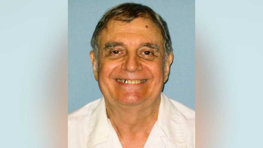 FILE - This undated photo, provided by the Alabama Department of Corrections, shows Tommy Arthur, in a photo taken at the Holman Correctional Facility in Atmore, Ala. An appellate court on Wednesday, Nov. 2, 2016, refused to halt the execution of Alabama inmate Arthur, who was convicted in the 1982 killing of a man in a murder-for-hire arrangement. In a split decision, the 11th U.S. Circuit Court of Appeals upheld a federal judge's decision that dismissed Arthur's lawsuit challenging the state's death penalty procedure as unconstitutional. (Alabama Department of Corrections via AP, File)