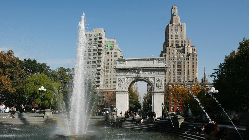NYU is located around Washington Square Park in Manhattan.