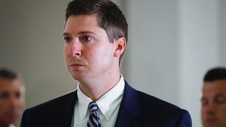 Ray Tensing leaves court in Cincinnati Friday.