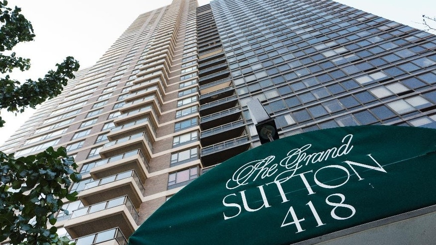 "This photo shows the Grand Sutton apartment tower Wednesday, Nov. 16, 2016, in New York. Authorities are investigating the disappearance of Joseph ""Joey"" Comunale who attended a party at the luxury building in Manhattan over the weekend. (AP Photo/Mark Lennihan)"