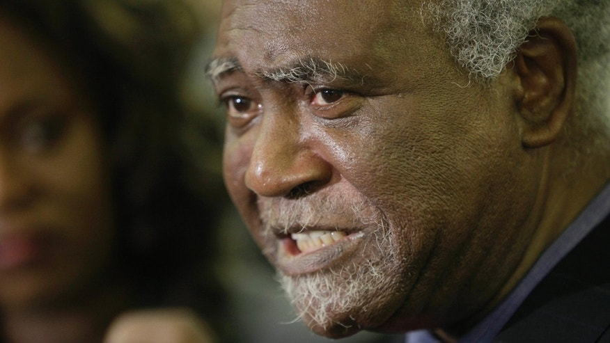 FILE - In this Nov. 9, 2009 file photo, U.S. Rep. Danny Davis, D-Ill. announces that he will run for re-election to this 7th congressional seat in Chicago.