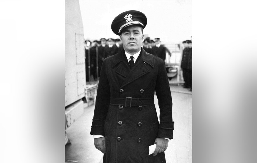 HOLD FOR STORY BY CHRIS CAROLA -  FILE - This undated file photo provided by the U.S. Navy shows Commander Henry S. Wygant Jr., who was captain of the USS Turner when it exploded and sank at the entrance to New York Harbor on Jan. 3, 1944.  Nearly 73 years after the disaster, Wygant was among the136 sailors still listed as missing. (U.S. Navy via AP, File)
