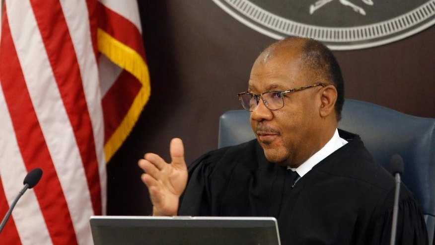 Judge Clifton Newman speaks during the trial of North Charleston police officer Michael Slager at the Charleston County court in Charleston, S.C., Monday, Nov. 21, 2016. Slager is charged in the April 2015 shooting death of 50-year-old Walter Scott as Scott fled from a traffic stop.(Grace Beahm/Post and Courier via AP, Pool)