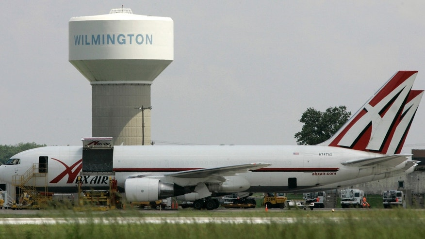 In this Thursday, June 5, 2008, file photo, two ABX Air cargo planes sit at Wilmington Air Park, in Wilmington, Ohio.