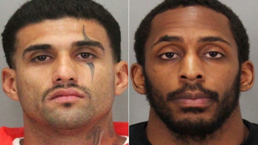 This photo provided by the Santa Clara County Sheriff's Office shows Rogelio Chavez, left, and Laron Campbell.