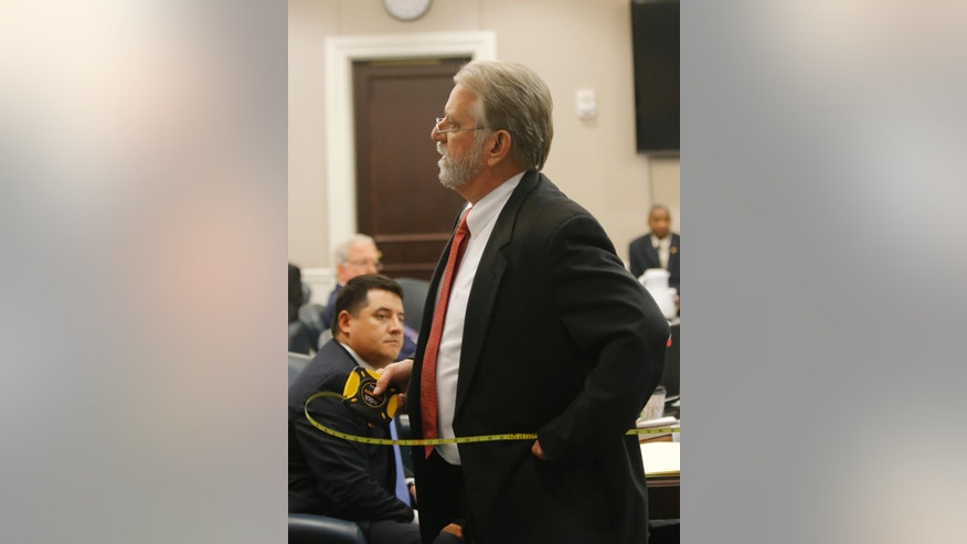 Deputy Solicitor Bruce DuRant speaks during the trial of former North Charleston police officer Michael Slager at the Charleston County court in Charleston, S.C., Tuesday, Nov. 29, 2016. Slager is charged with murder in the shooting death last year of Walter Scott. (Grace Beahm/Post and Courier via AP, Pool)