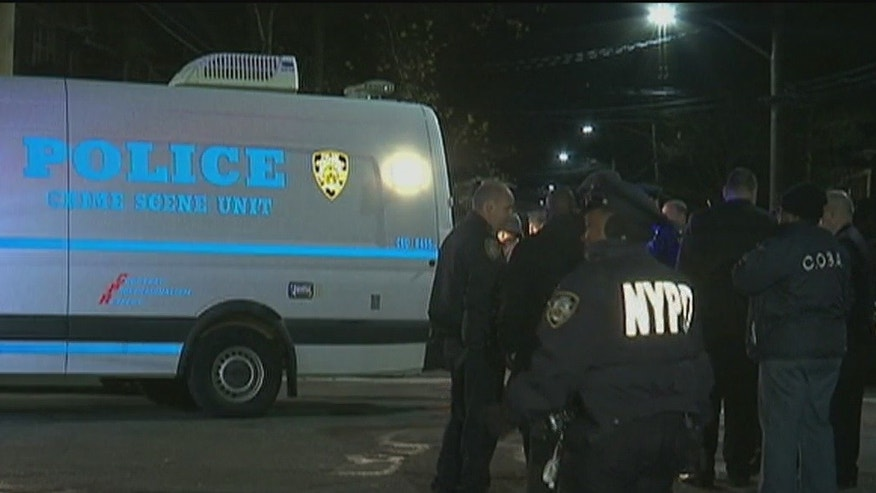 The scene of the shooting in Brooklyn.