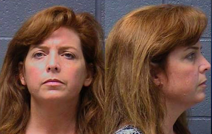 This undated photo combination provided by the Yuba County Jail shows Terri Horman. The stepmother of missing Oregon boy Kyron Horman was arrested by police in California after her roommate reported that she stole his handgun.  (Yuba County Jail via AP)