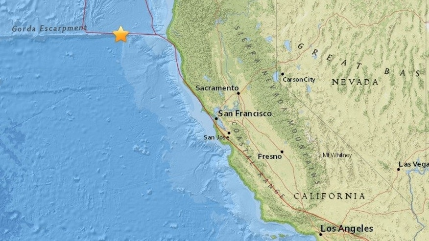 Earthquake off No. California