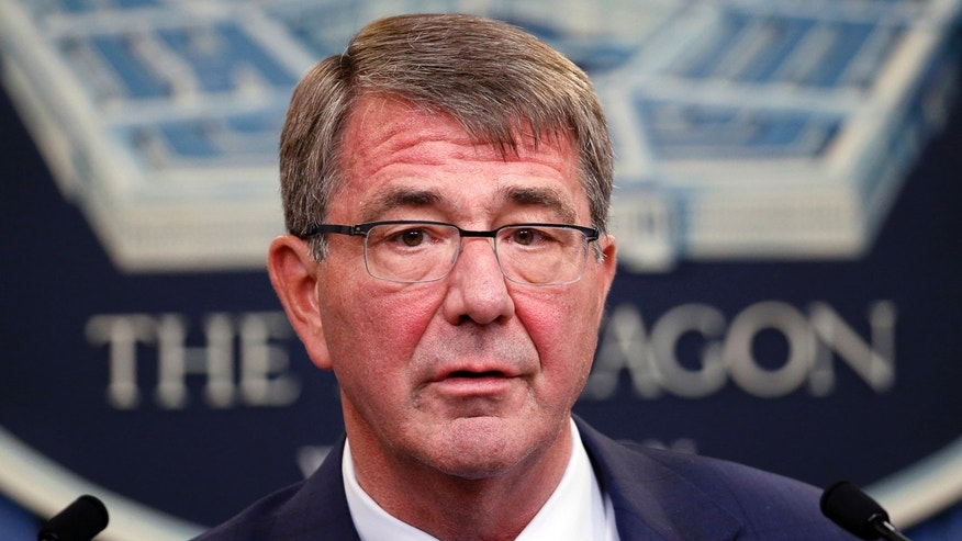 FILE - In this June 30, 2016, file photo, Defense Secretary Ash Carter speaks during a news conference at the Pentagon.