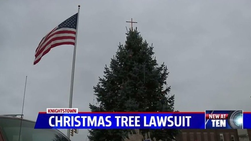 The ACLU is suing an Indiana town over its Christmas tree. (Fox 59 Indianapolis)