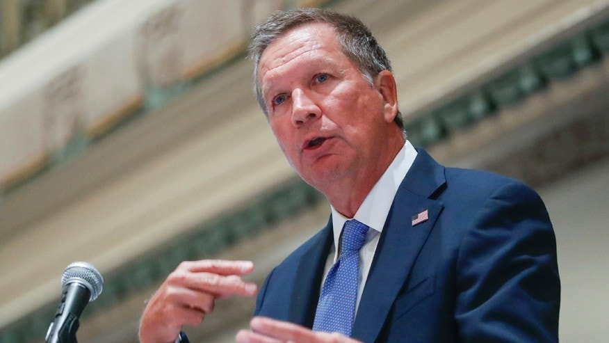 FILE - In this Aug. 25, 2016, file photo, Ohio Gov. John Kasich speaks in Cincinnati. Kasich on Dec. 6/