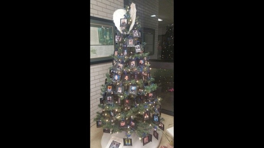 The Christmas tree on display in Cedartown.