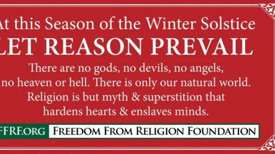 The message from the Freedom From Religion Foundation.
