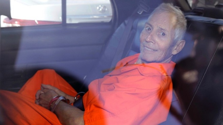 Robert Durst after his arraignment on murder charges in New Orleans in 2015.
