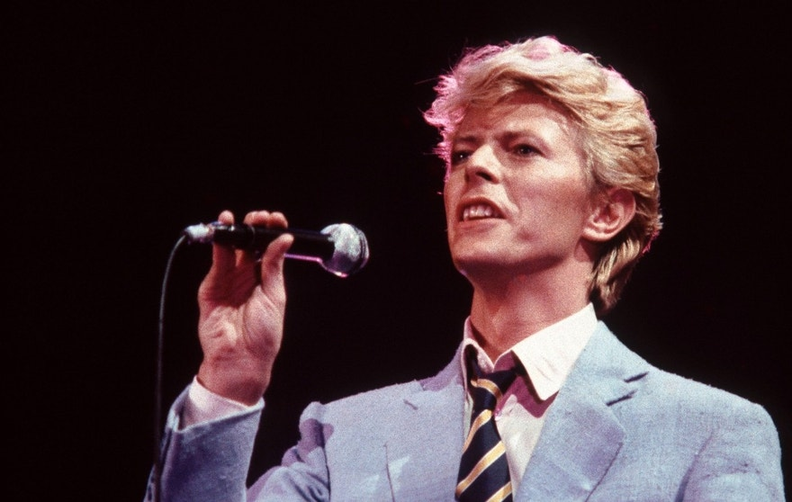 UNITED KINGDOM - JUNE 01:  NEC BIRMINGHAM  Photo of David BOWIE, performing live onstage on the Serious Moonlight tour  (Photo by Graham Wiltshire/Redferns)