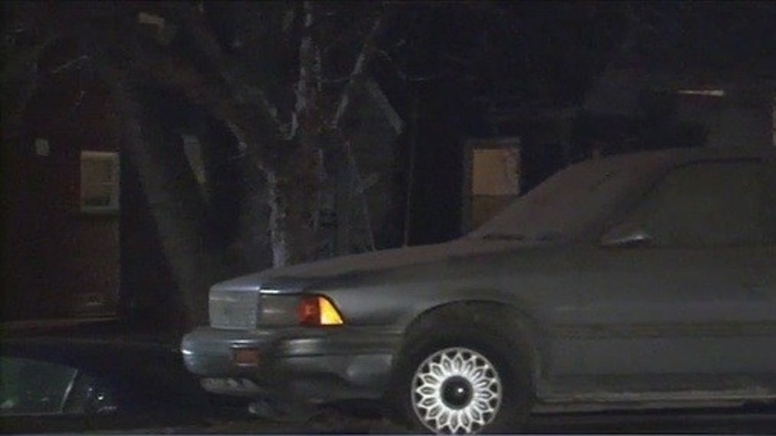 The car where a prospective home buyer found a body inside.