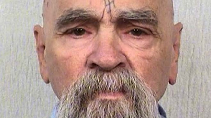 This Oct. 8, 2014 file photo shows convicted killer Charles Manson.