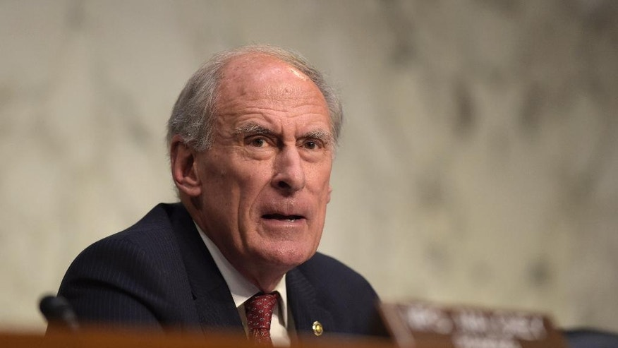 FILE - In this Nov. 17, 2016 file photo, then-Indiana Sen. Dan Coats on Capitol Hill in Washington. President-elect Donald Trump is planning to appoint former Coats as Director of National Intelligence. (AP Photo/Susan Walsh, File)