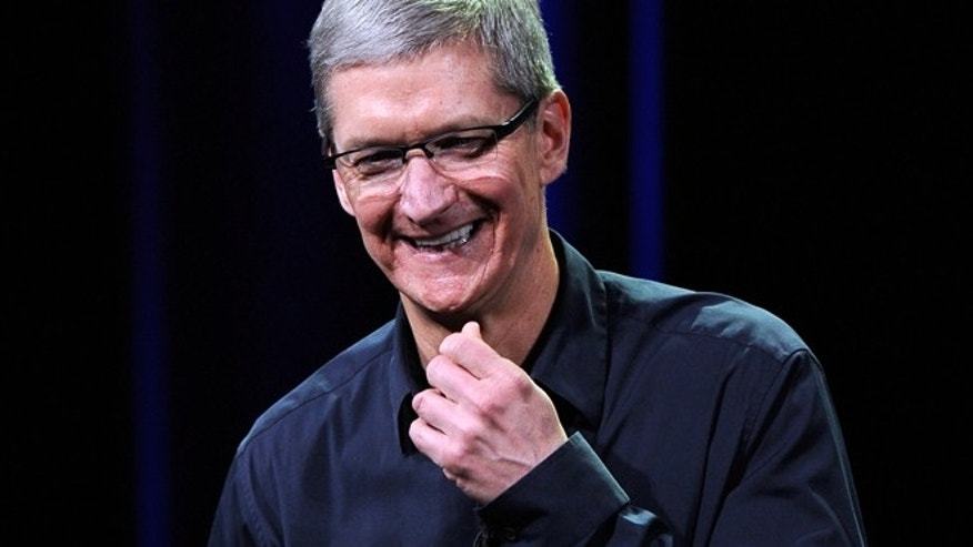Apple CEO Tim Cook appears at an Apple event in San Francisco