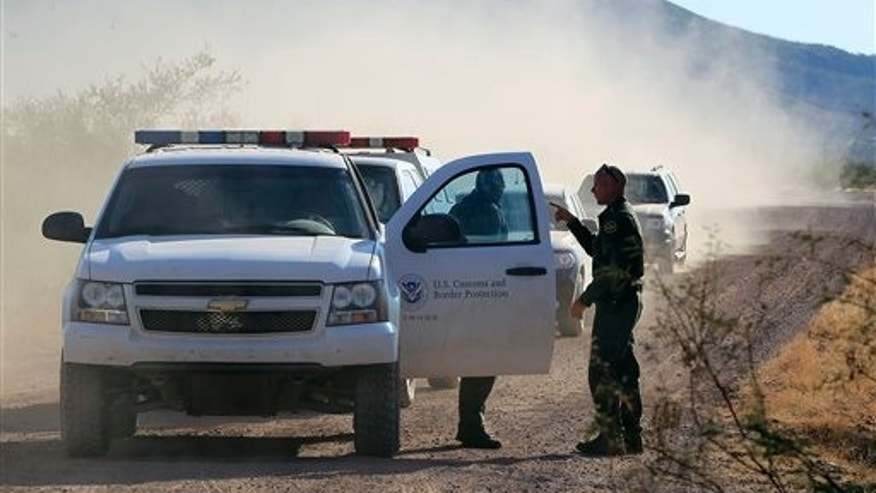 U.S. Customs and Border Protection officers near Bisbee, Arizona.