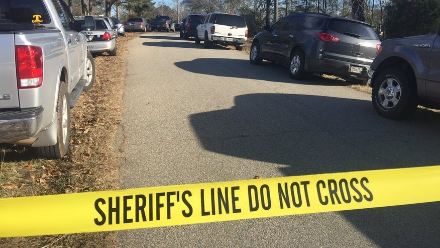 The scene of the shooting in Troup County.
