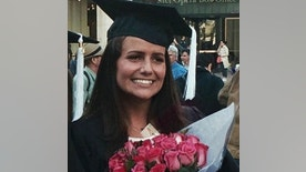 FILE - This May 2015 file family photo shows Sascha Pinczowski at her graduation from Marymount Manhattan College in New York. The families of victims of terror attacks in Paris, Brussels and Israel including the family of Sascha Pinczowski and brother Alexander said social media companies including Facebook and Twitter are aiding terrorists. Plaintiffs' lawyer Robert Tolchin said the companies are helping terror groups network, recruit and advertise their deadly aims. The companies said the lawsuits get it wrong. (Courtesy of the Pinczowski family via AP, File)