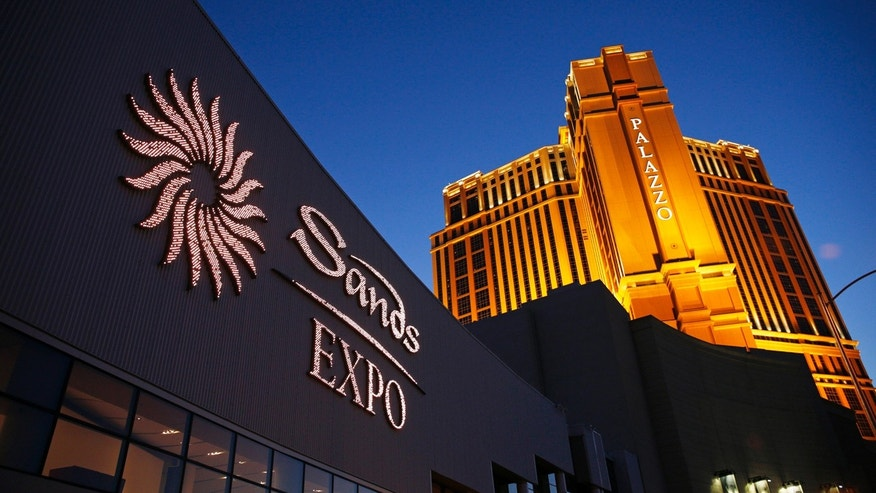 FILE - This June 17, 2014 file photo shows the Sands Expo and Convention Center and The Palazzo in Las Vegas.