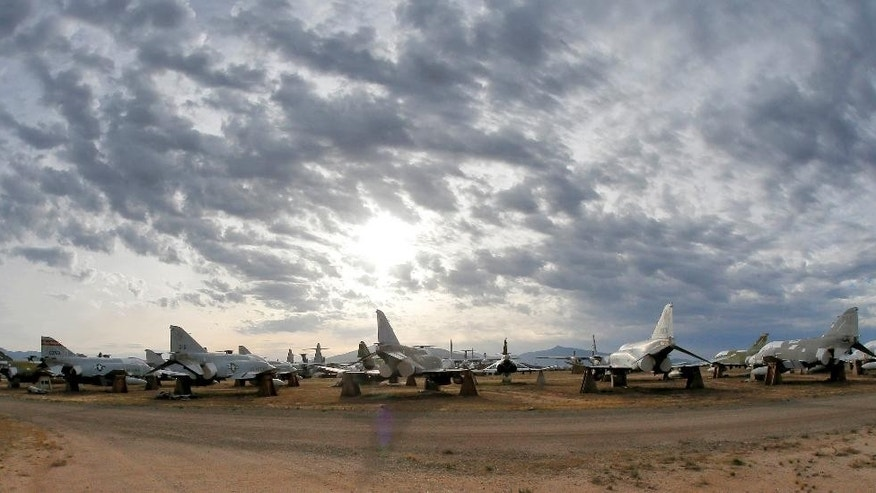 "The aircraft storage ""boneyard"" at Davis-Monthan Air Force Base."