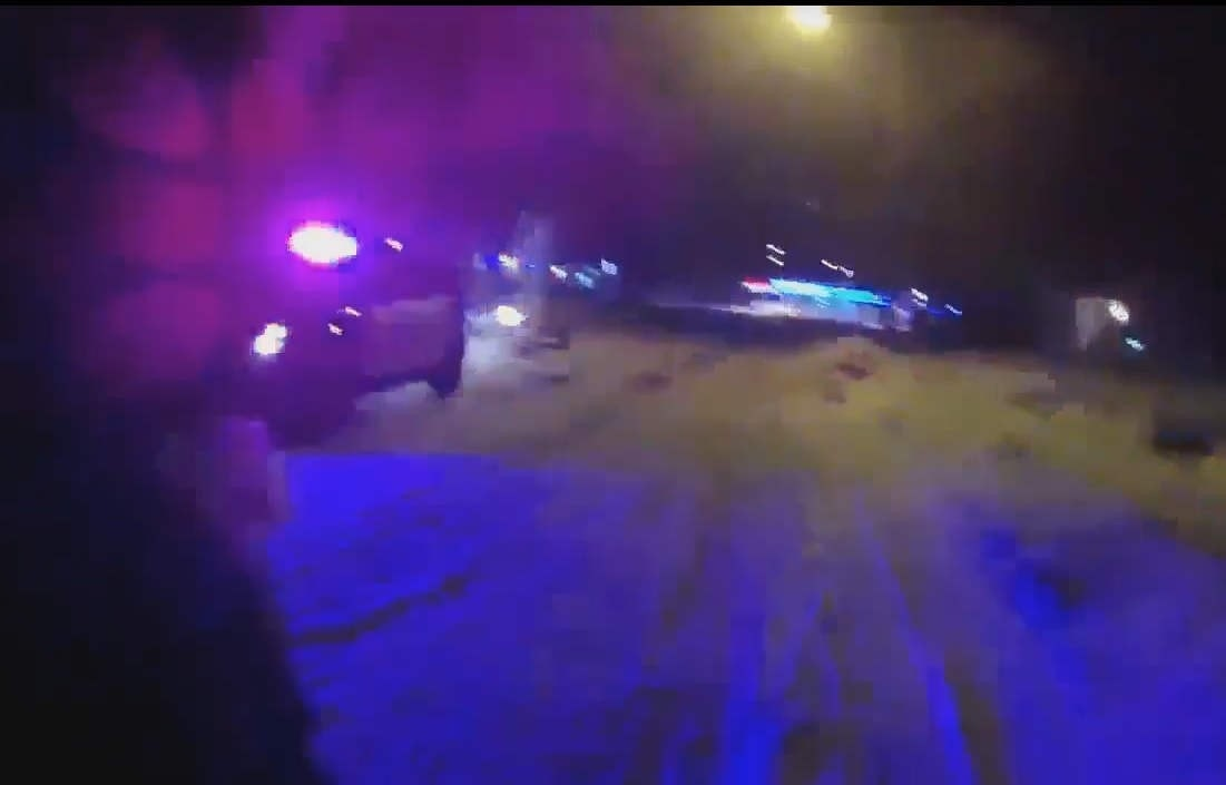 Body cam footage shows Washington officer rescuing woman from burning car