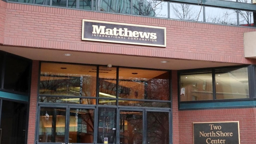 Feds ex cashier stole 9 5m from pittsburgh monuments for Matthews international corp