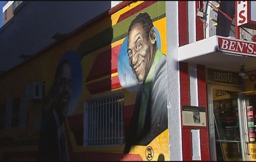 D c eatery paints over mural featuring bill cosby obama for Chuck brown mural