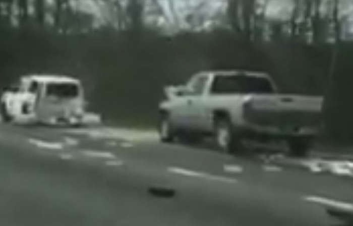 Video captures impaired driver slamming into back of Louisiana State trooper
