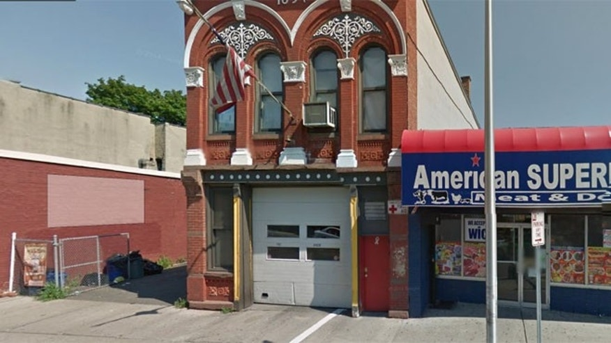 Cops responded to a burglary Thursday night at this firehouse in New Jersey's Jersey City.