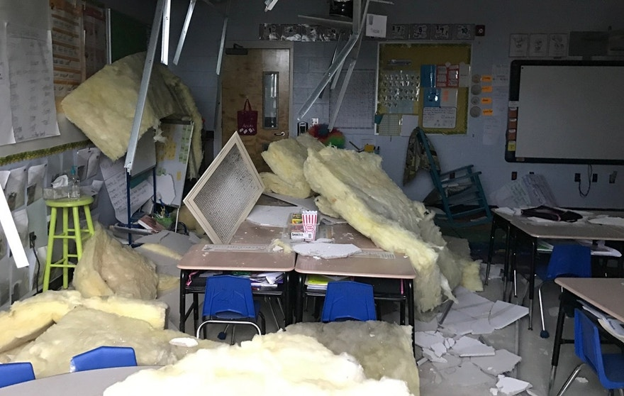 New Orleans school damage