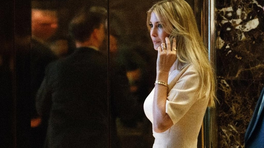 "FILE - In this Nov. 11, 2016 file photo, Ivanka Trump, daughter of President-elect Donald Trump, arrives at Trump Tower in New York. Nordstrom shares sunk after President Trump tweeted that the department store chain had treated his daughter ""so unfairly"" when it announced last week that it would stop selling Ivanka Trump's clothing and accessory line.  (AP Photo/ Evan Vucci, File)"
