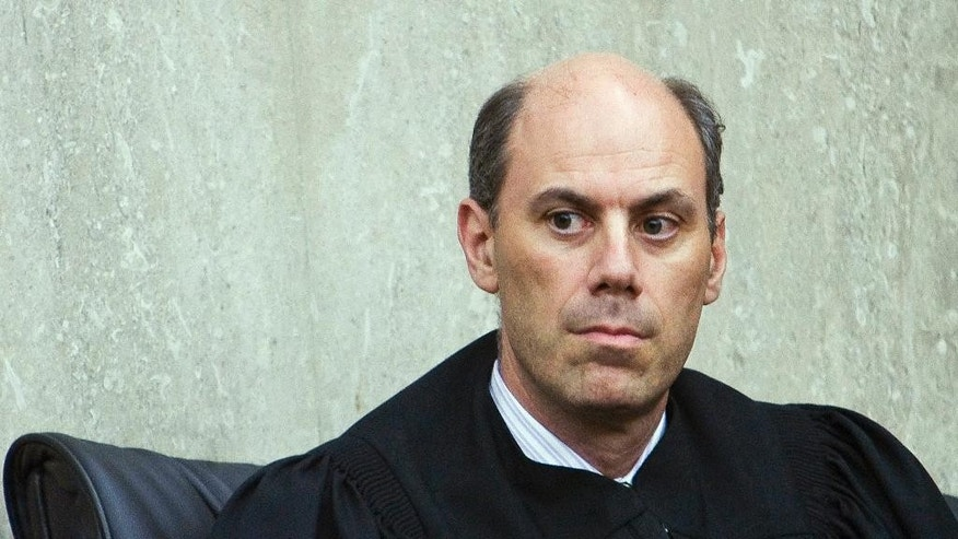 "This June 20, 2012, photo provided by ALM shows U.S. District Judge James ""Jeb"" Boasberg in Washington, D.C. Boasberg is overseeing a lawsuit filed by the Standing Rock and Cheyenne River Sioux, two Dakotas tribes who maintain the $3.8 billion Dakota Access pipeline to carry North Dakota oil to Illinois threatens their drinking water and cultural sites. (Diego M. Radzinschi/ALM via AP)"