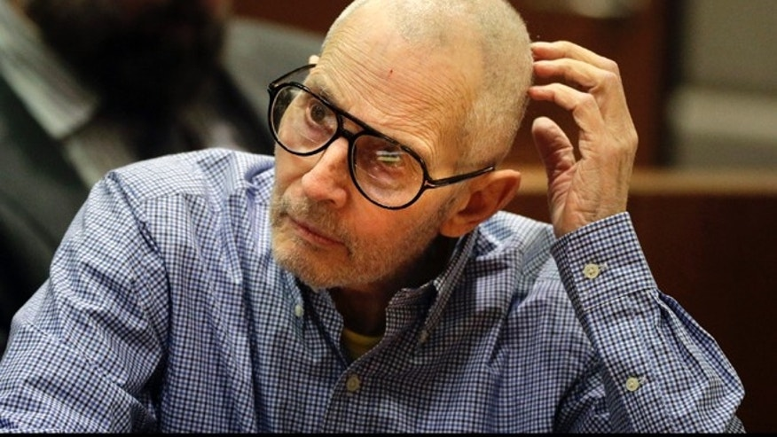 FILE - In this Dec. 21, 2016 file photo, real estate heir Robert Durst sits in a courtroom during a hearing in Los Angeles.