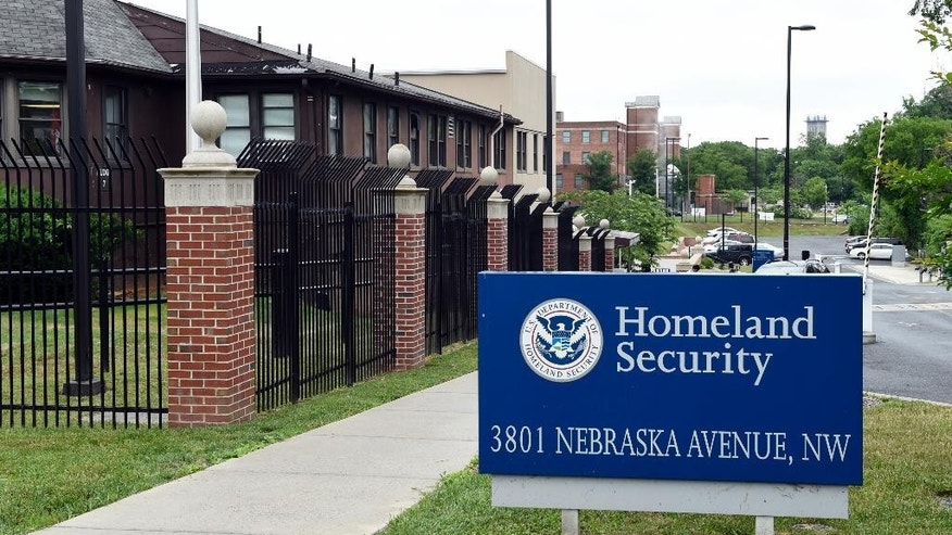 FILE - In this June 5, 2015 file photo, a view of the Homeland Security Department headquarters in Washington. Analysts at the Homeland Security Department's intelligence arm found insufficient evidence that citizens of seven Muslim-majority countries included in President Donald Trump's travel ban pose a terror threat to the U.S.  (AP Photo/Susan Walsh, File)