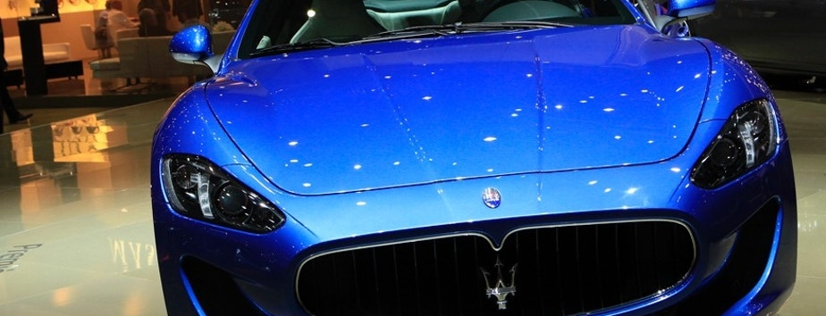 The new Maserati GranTurismo Sport car is pictured during the second media day of the 82nd Geneva Auto Show at the Palexpo Arena in Geneva March 7, 2012. The Geneva Motor Show takes place from March 8 to 18, 2012. REUTERS/Denis Balibouse (SWITZERLAND - Tags: TRANSPORT BUSINESS) - RTR2YZEB