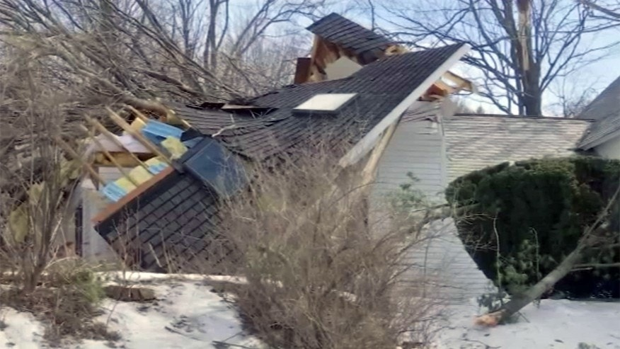 Feb. 25, 2017: A tornado touched down near Conway, Mass.