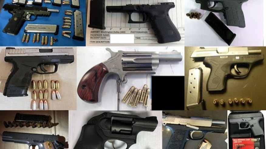 Two men stopped, arrested for having loaded guns at Charlotte airport