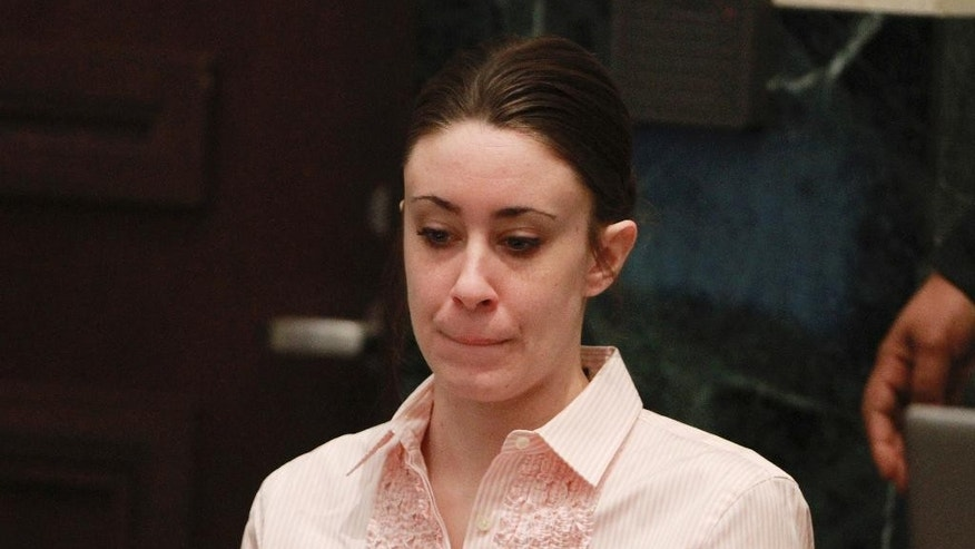 FILE - In this July 5, 2011 file photo, Casey Anthony sits at the defense table during the second day of jury deliberations in her murder trial in Orlando, Fla.   In a Wednesday, March 1, 2017  interview with the Orlando Sentinel  Judge Belvin Perry said Anthony may have been trying to quiet the child, Caylee, with chloroform and accidentally used too much. Perry says it's a theory and if jurors in Anthony's 2011 trial had come to that conclusion, they might have convicted her of second-degree murder or manslaughter.  (AP Photo/Joe Burbank, Pool, File)