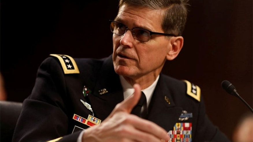 March 9:  US Army Gen. Joseph Votel, commander of the U.S. Central Command, testifies before the Senate Armed Services Committee on Capitol Hill in Washington.