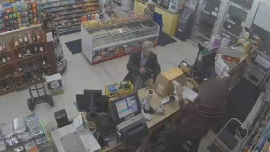 Clerk at an Ohio food mart said he had no choice but to shoot a would-be robber with a gun.